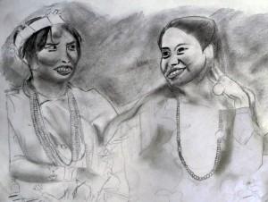 Ilustración - dibujo a lápiz - cartulina