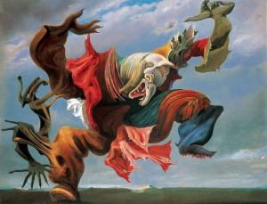 El Angel domético o El triunfo del Surrealismo - 1937 - óleo sobre lienzo
