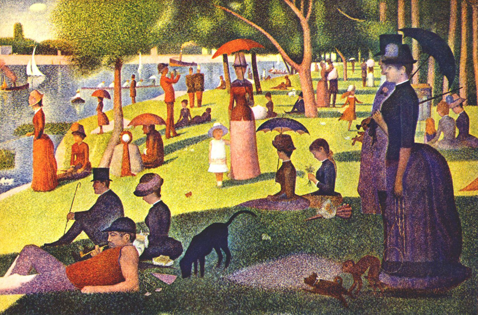 Art analysis on georges seurat sunday on la grande janette