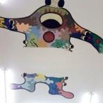 Pintura en el techo del Taller Infantil