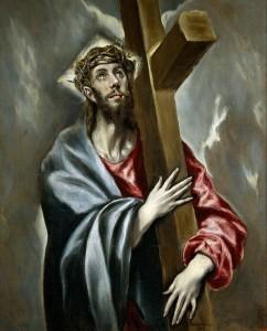 Cristo abrazado a la cruz (El Greco, 1597-1600, Museo Nacional del Prado)