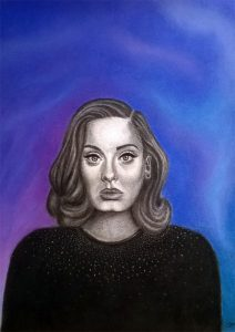 Claudia Moreno - Pastel y lápiz compuesto