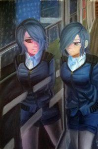 Pastel estilo manga