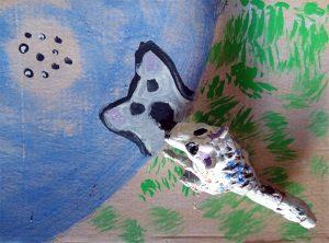 El lobo_pintura y modelado